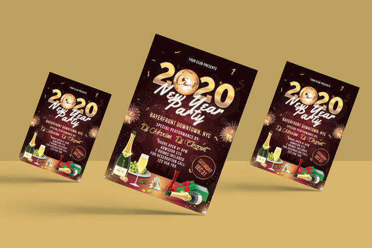 NEW YEAR PARTY FLYER 2 example image 2