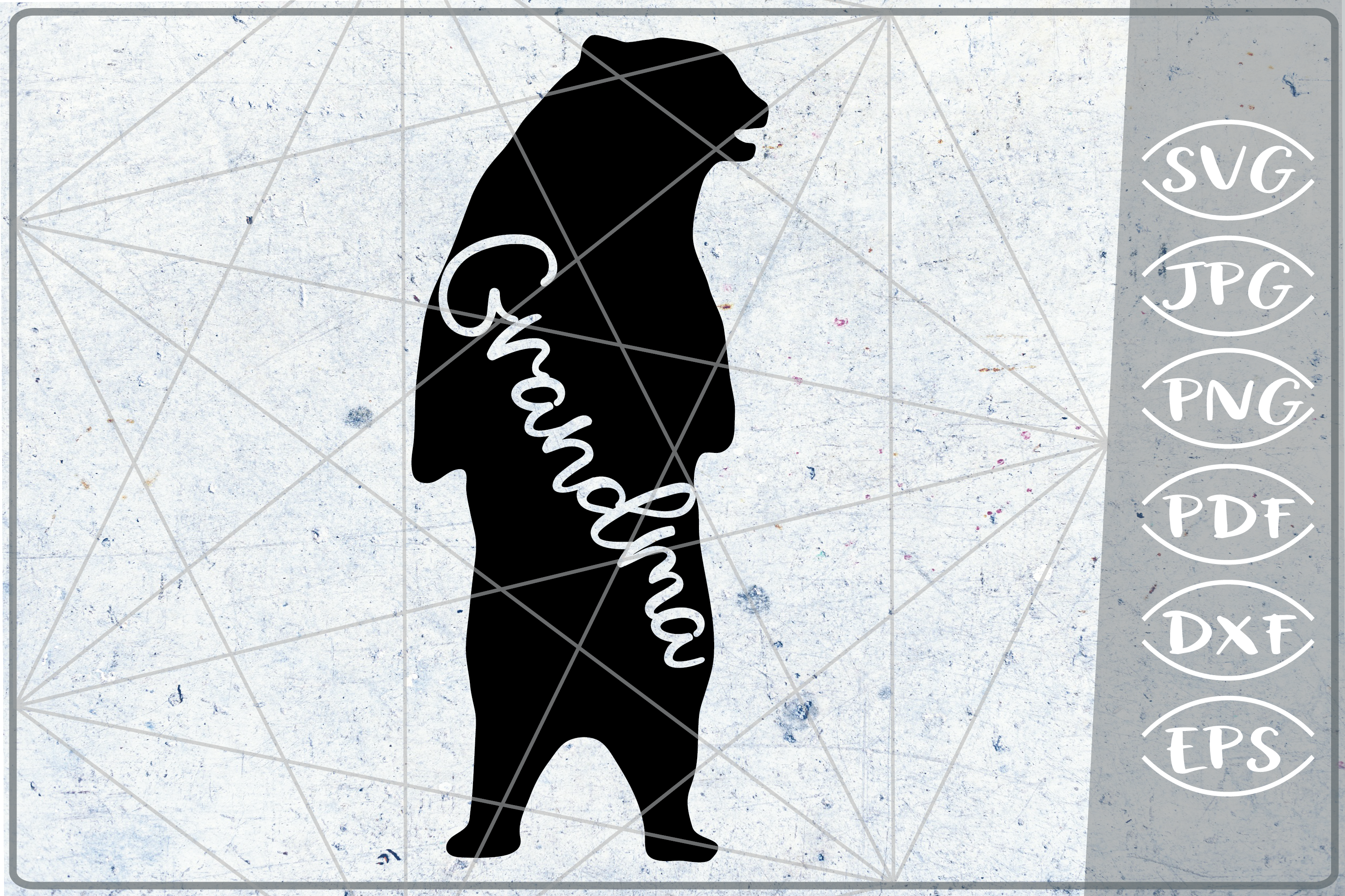 Grandma Bear SVG Cutting File Mother's Day svg png cricut example image 1