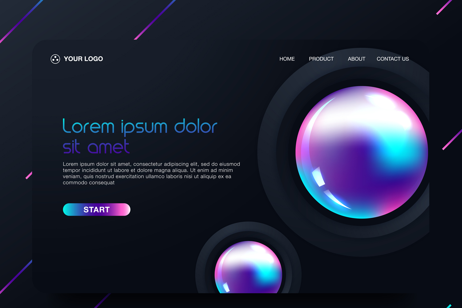 20 - Abstract background design. Landing page template example image 18