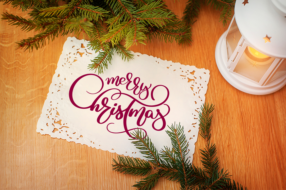 Merry Christmas Quotes and Objects Calligraphy Collection example image 3