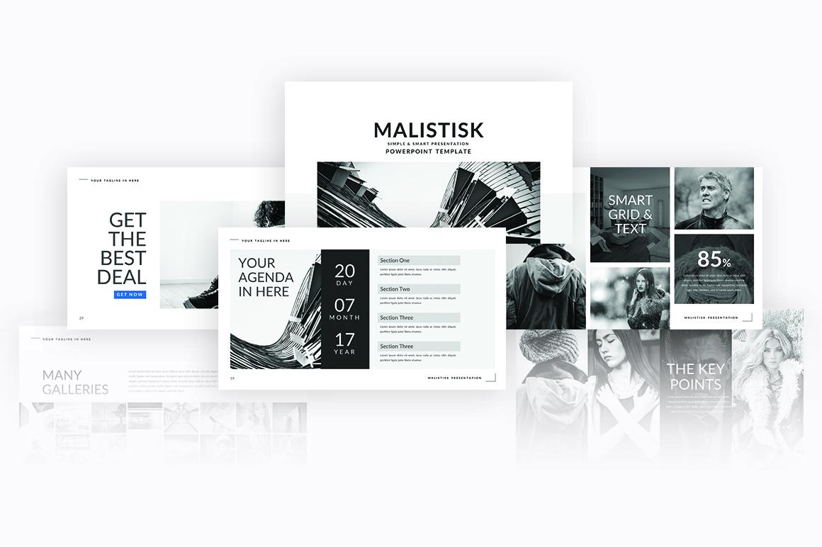 Malistisk Multipurpose Powerpoint example image 7