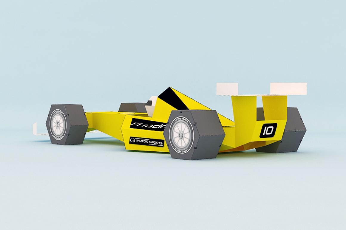 DIY F1 Car - 3d papercraft example image 4