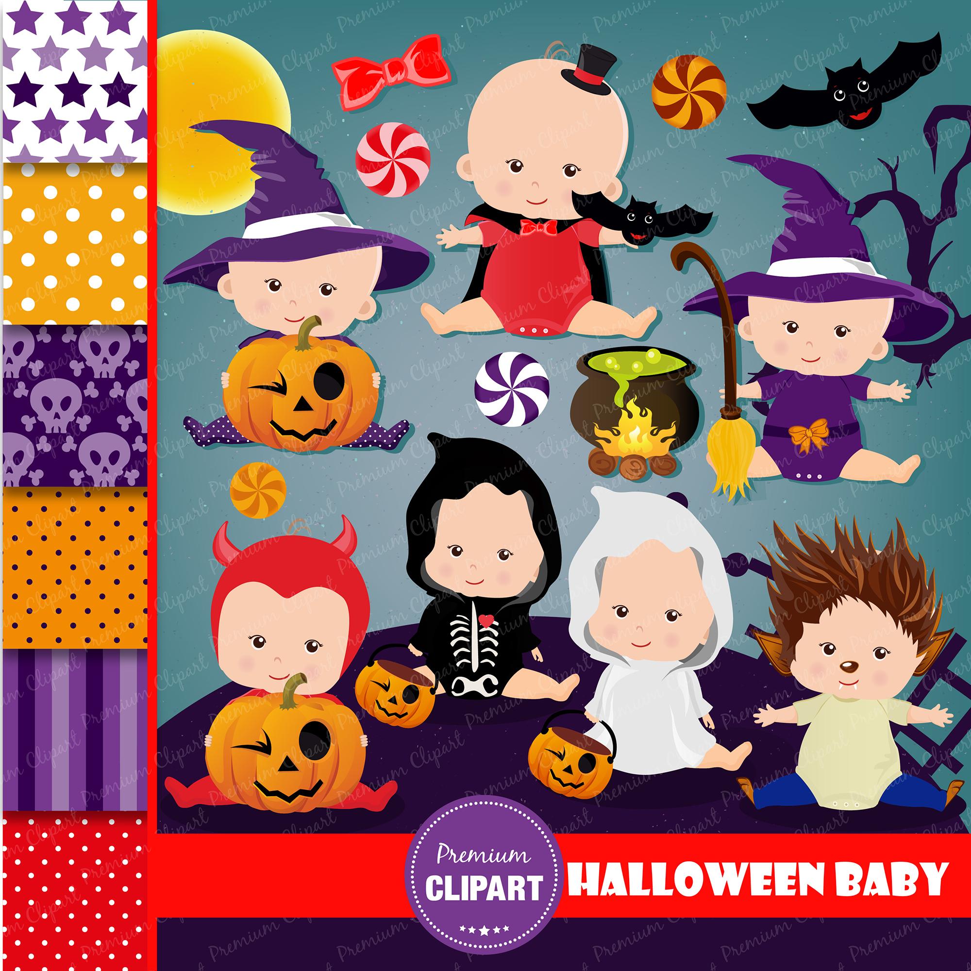 Halloween bundle, Halloween illustrations example image 21