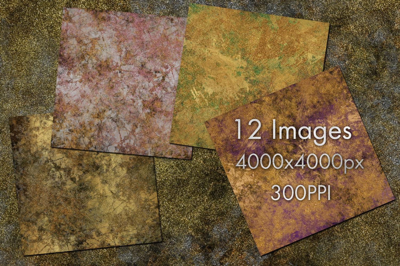 Glittery Metallic Grunge Digital Paper example image 2