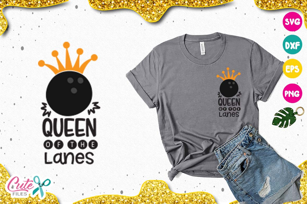 Queen of the lanes SVG, cut files for craftter example image 1