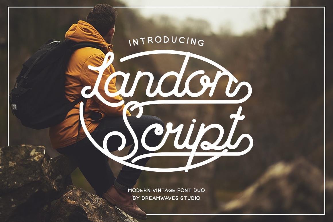 Landon Script example image 1