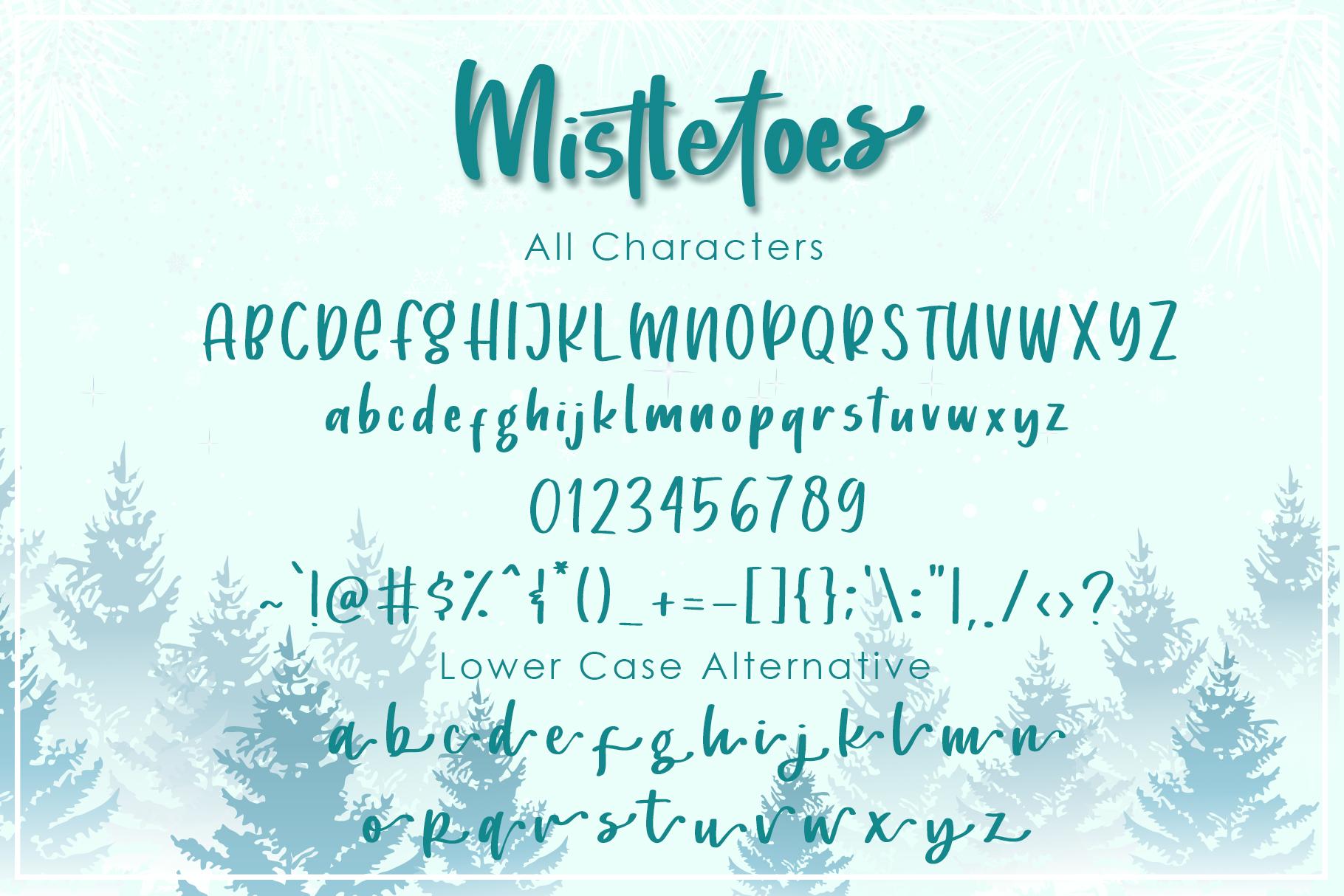 Mistletoes - Handwritten Brush Font example image 2