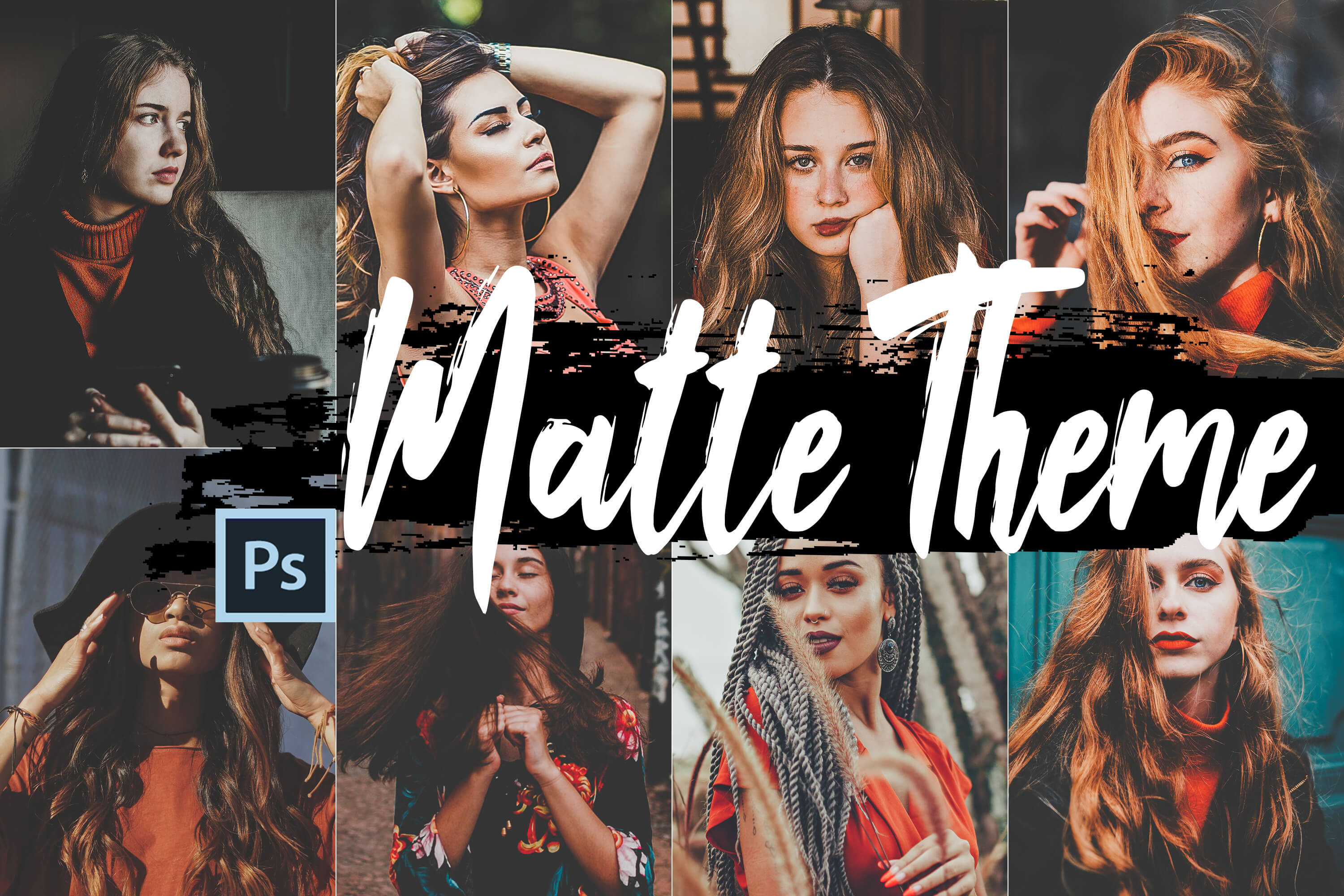 Neo Matte Theme Color grading Photoshop Actions example image 1