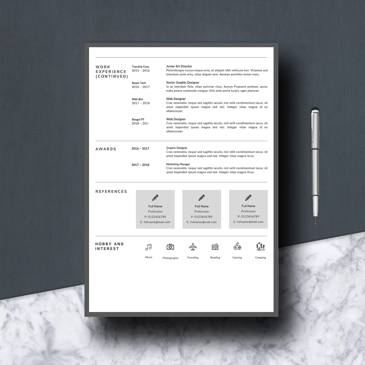Resume Template 3 Pages example image 4