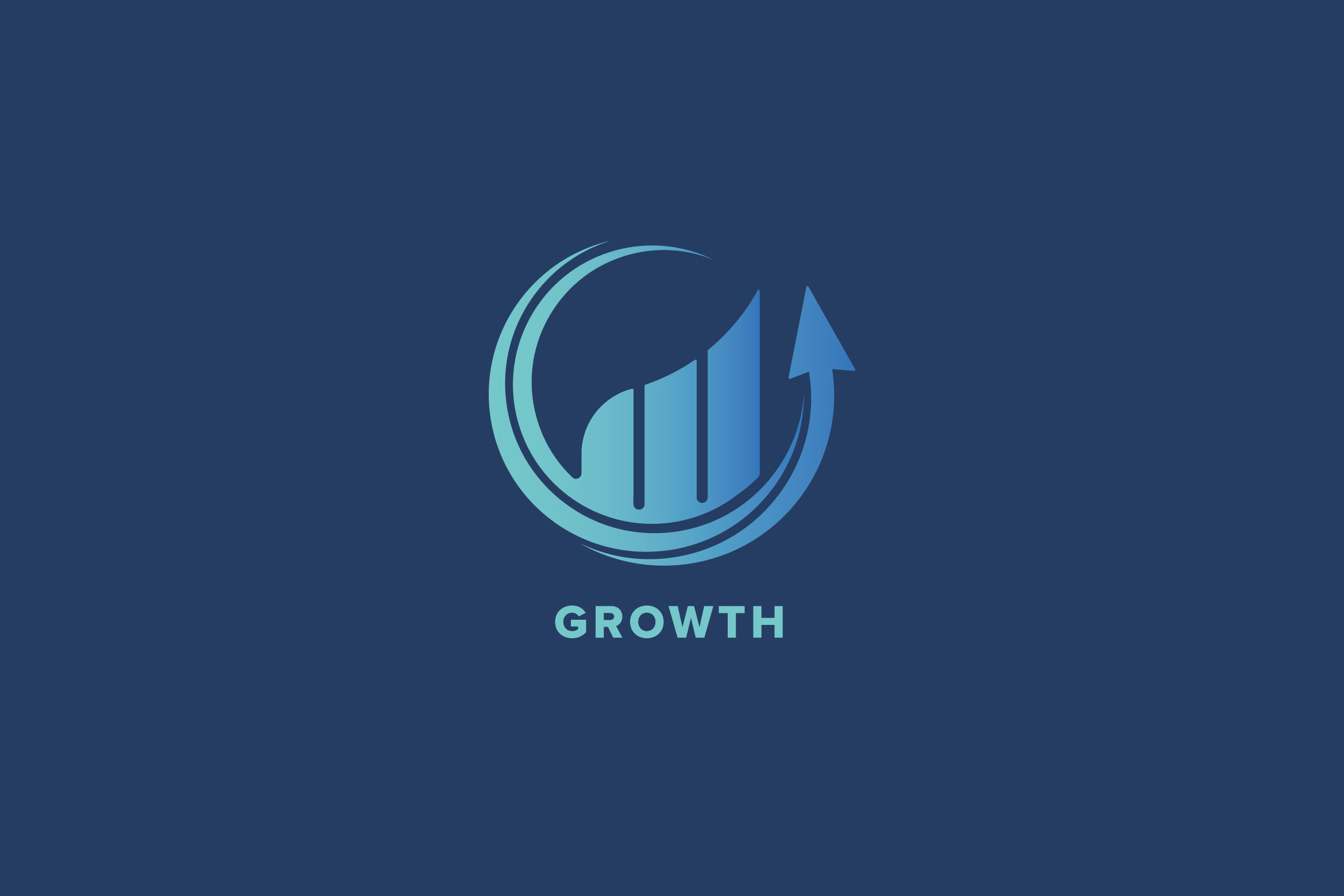 Growth Market Logo Template example image 2