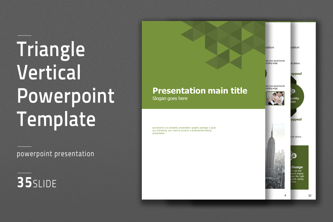 Triangle Powerpoint Template Vertical example image 1