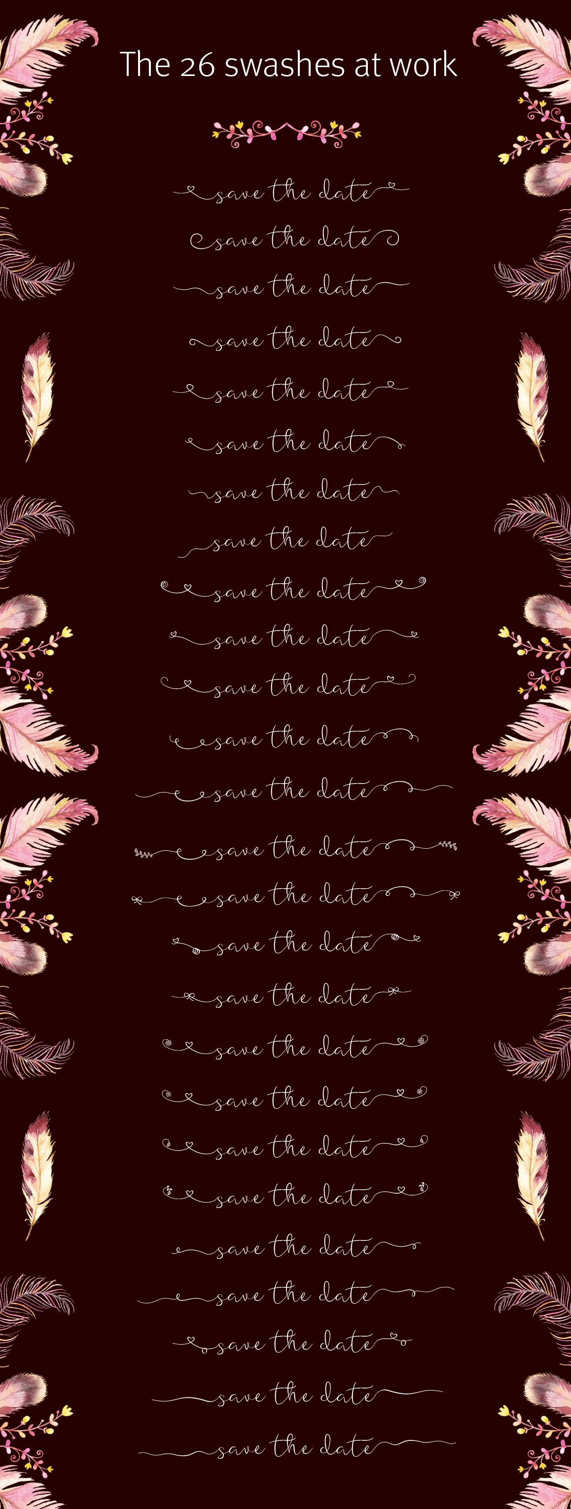 Featherly Font - wedding font example image 4