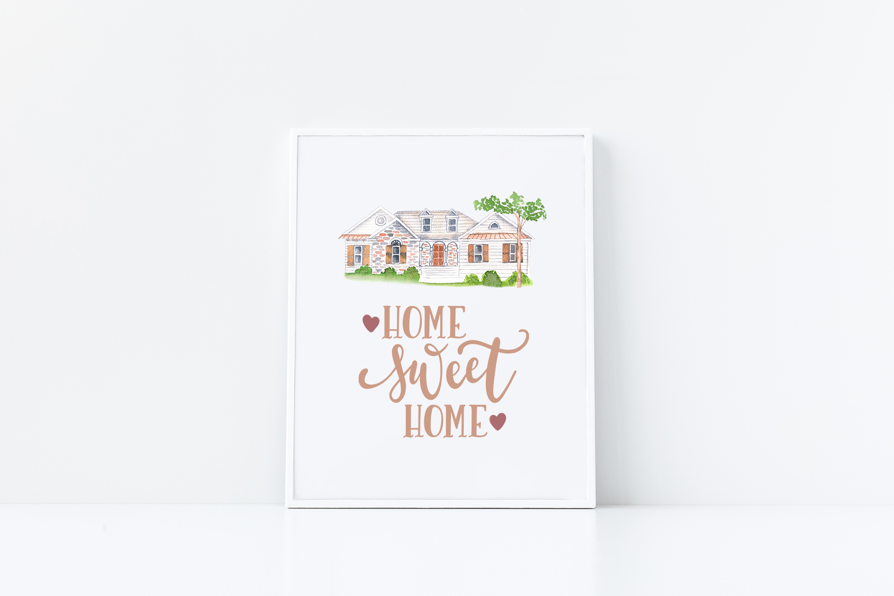 Venues Houses Watercolor , Sketch , Vector Graphics example image 12