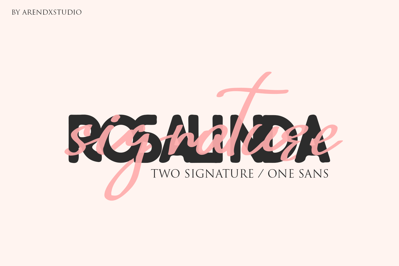 Rosalinda Three Font example image 1