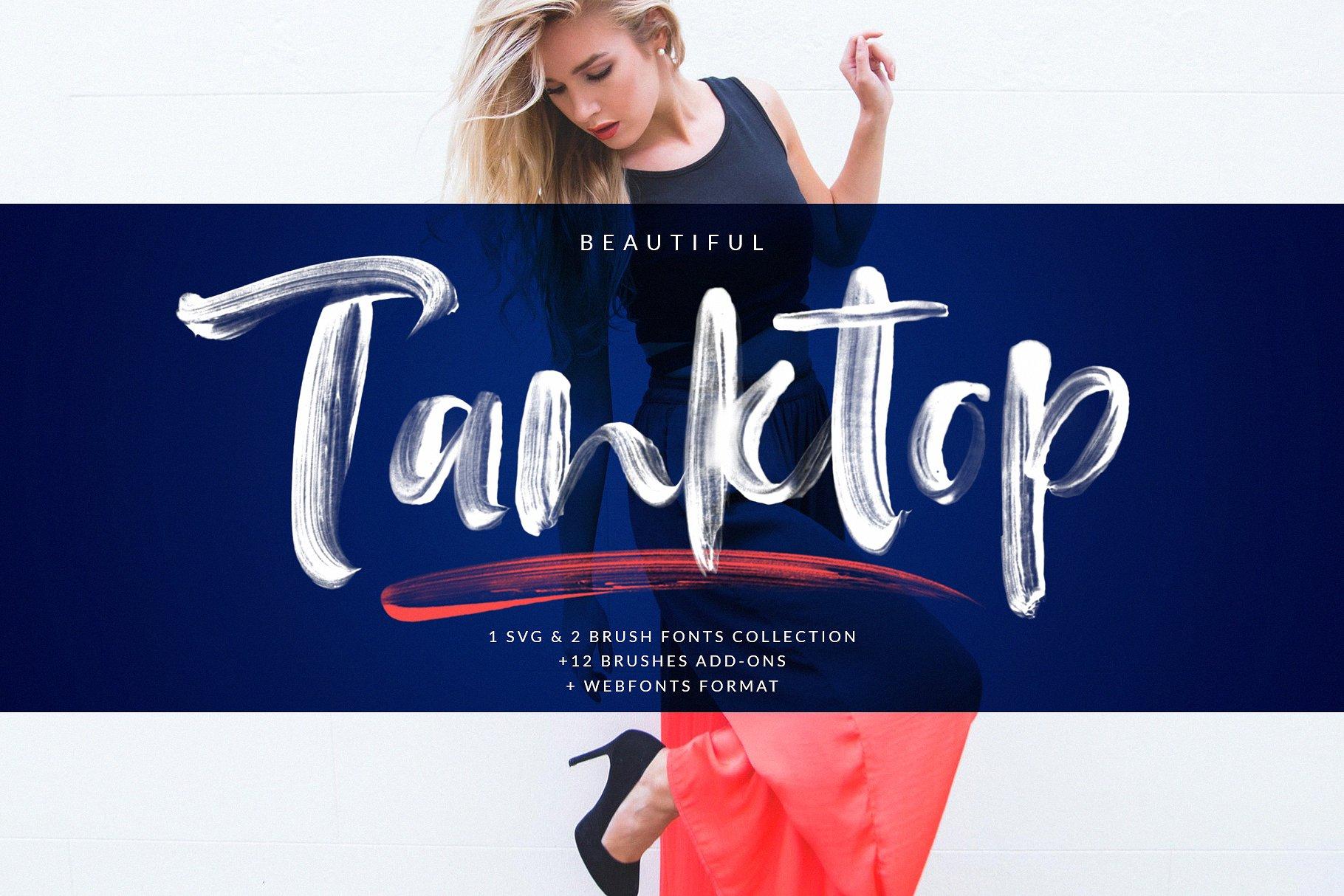 Tanktop SVG & Brush Fonts example image 1