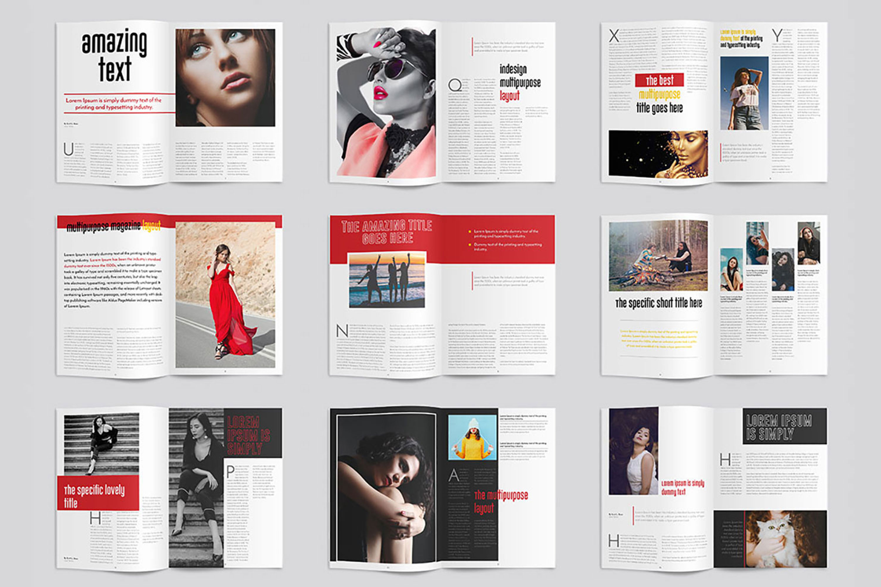 InDesign Multiple Magazine Layout example image 4