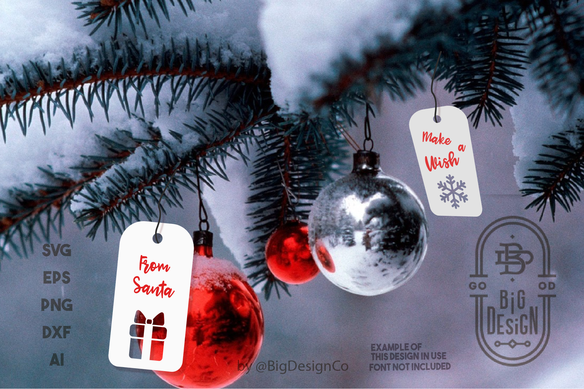 Christmas Gift Tags SVG - 8 Label Svg Designs example image 2