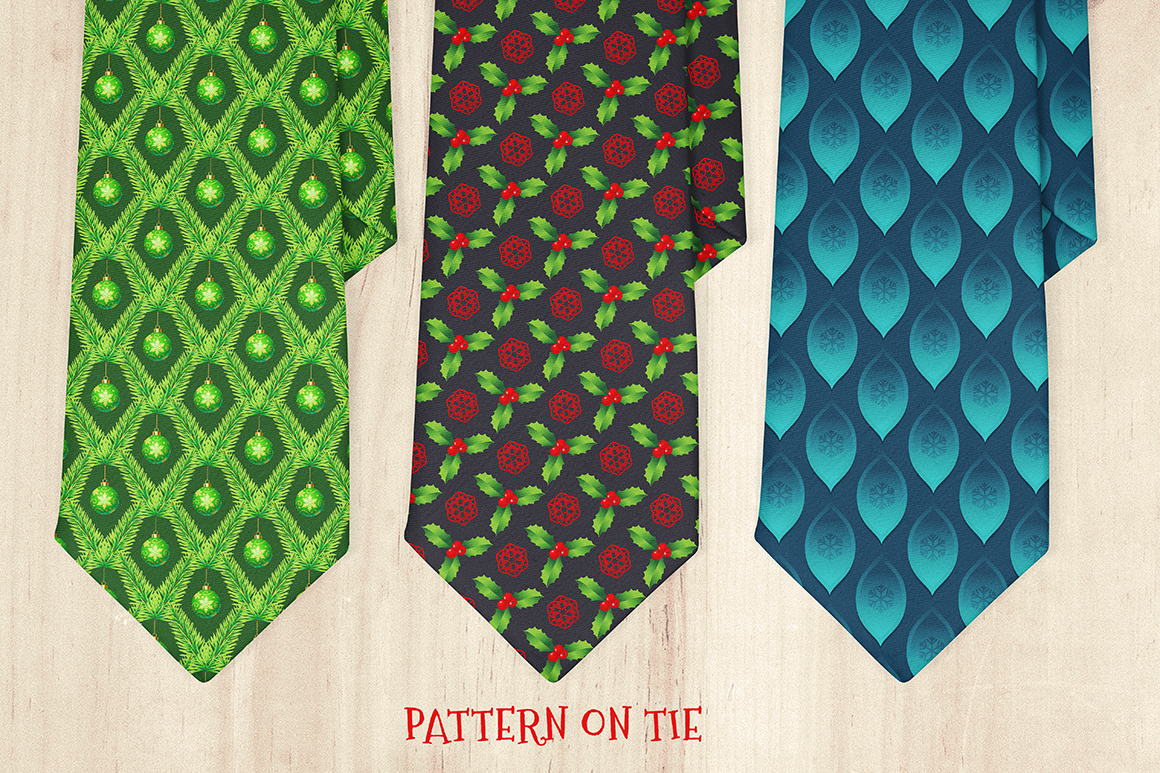 100 Christmas Seamless Patterns example image 26