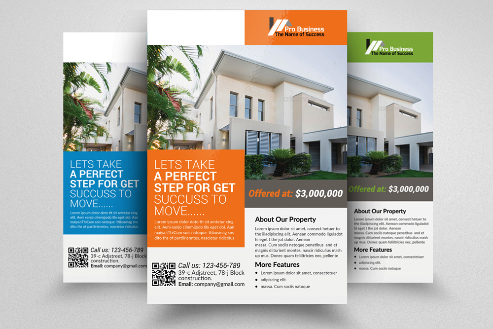 6 Real Estate Business Flyers Bundle example image 3