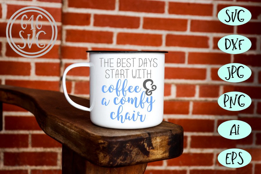 The best days start with coffee SVG, DXF, Ai, PNG example image 2