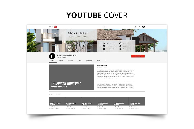 Moxa Hotel Social Media Kit example image 3