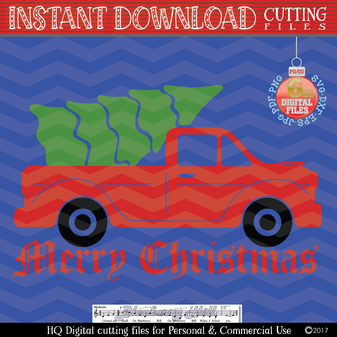 Christmas truck - Christmas truck with tree svg - Christmas example image 2