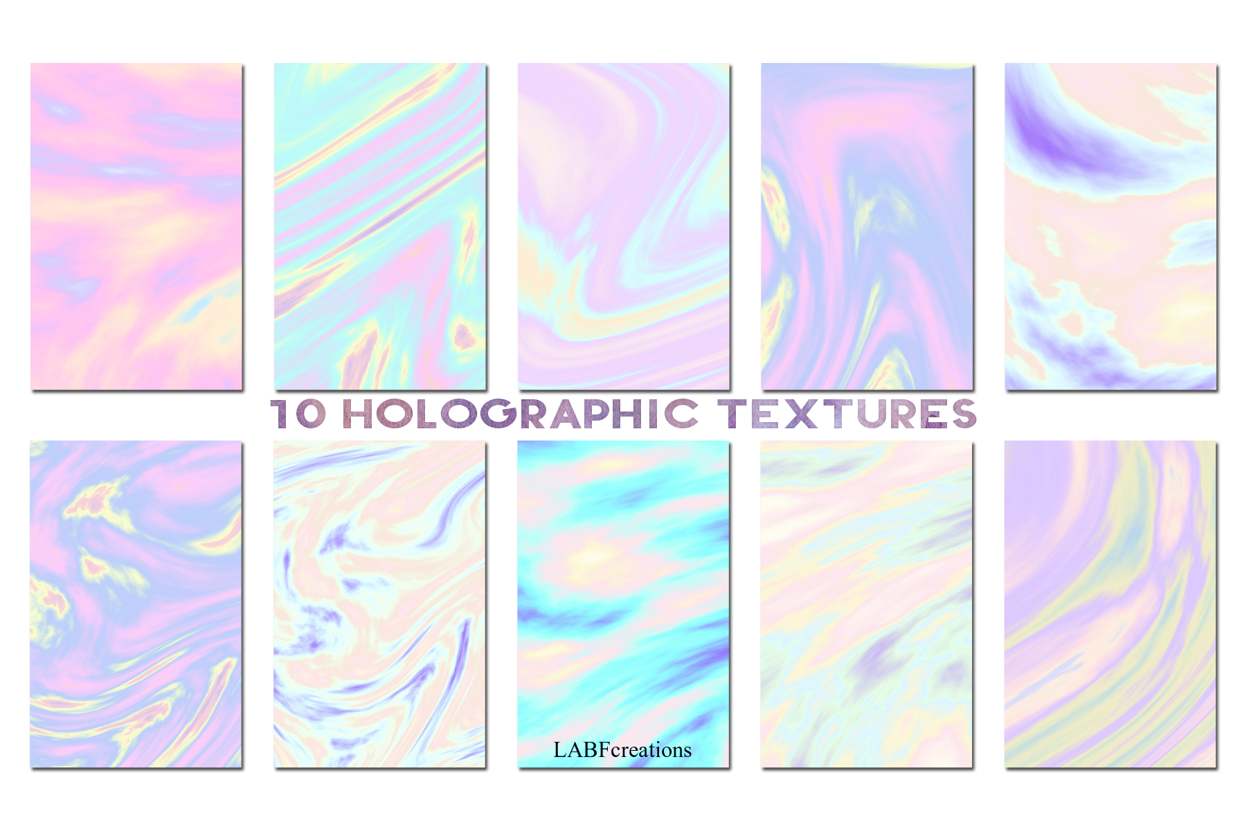 10 Holographic Textures example image 3
