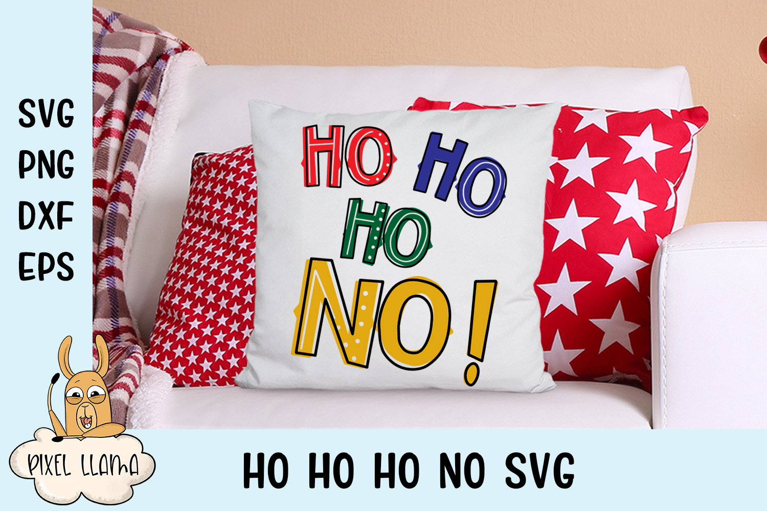 Ho Ho Ho No Cranky Christmas SVG Cut File example image 2