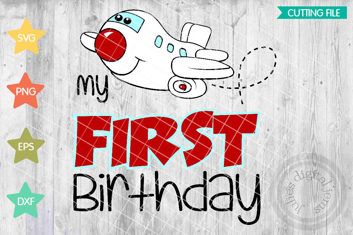 Airplane Birthday Shirt Svg 1st SVG Example Image 1