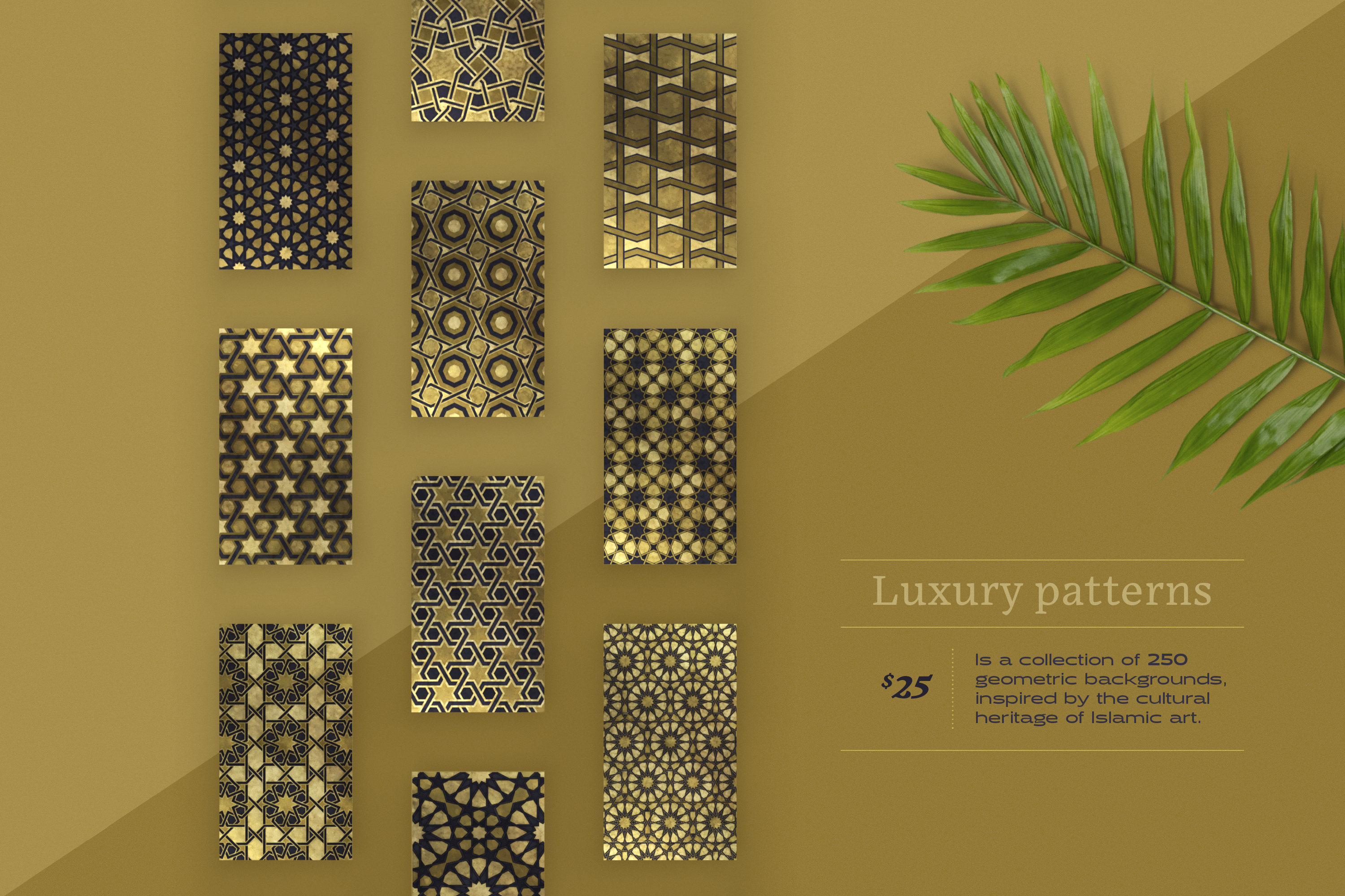 Luxury Patterns - 250 geometric backgrounds example image 2