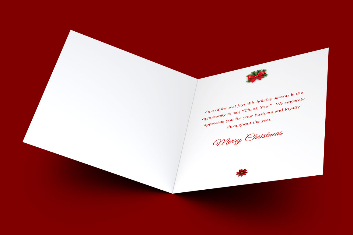 Red Christmas Card Template example image 2