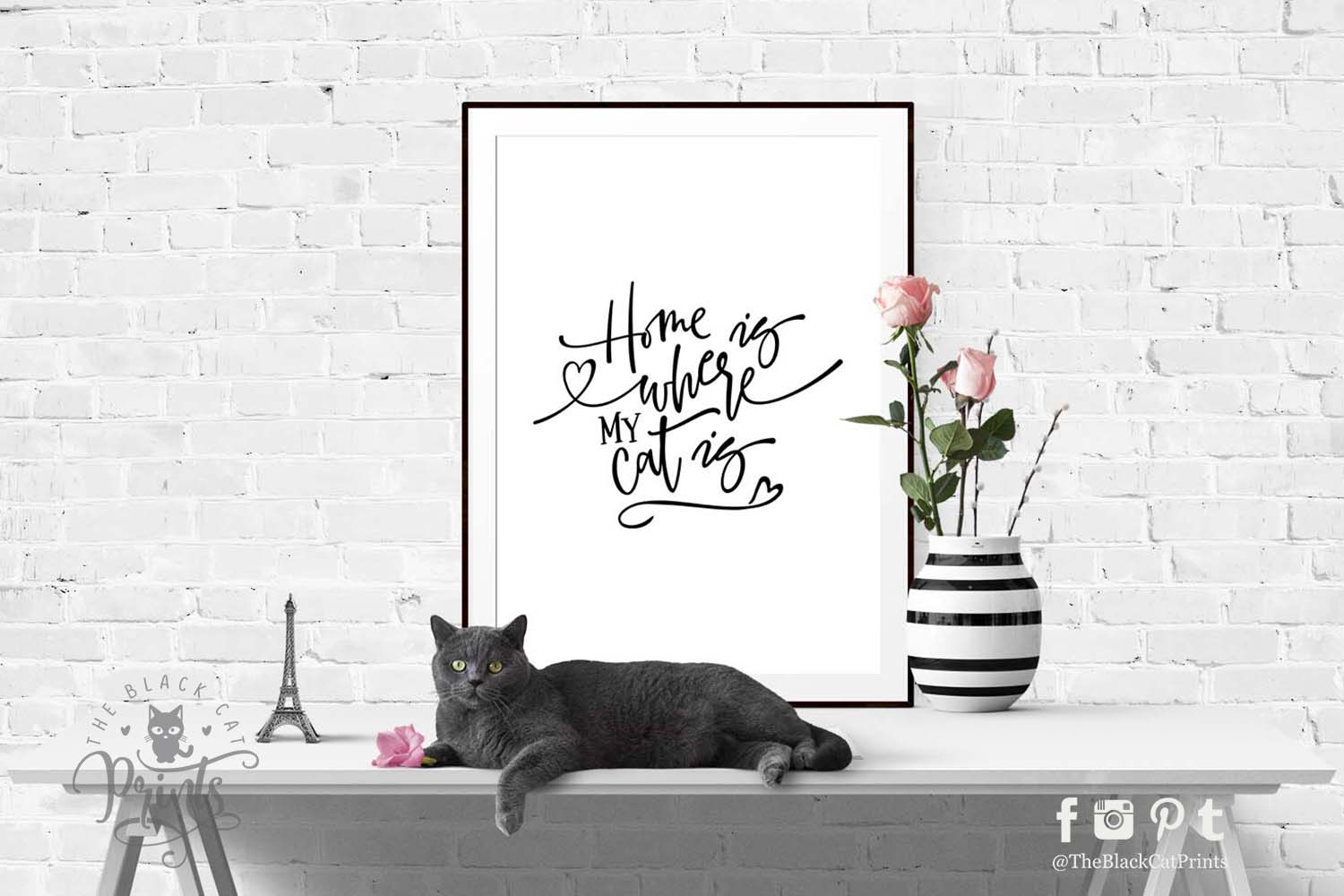 Home is where my Cat is SVG DXF PNG EPS JPG PDF example image 4