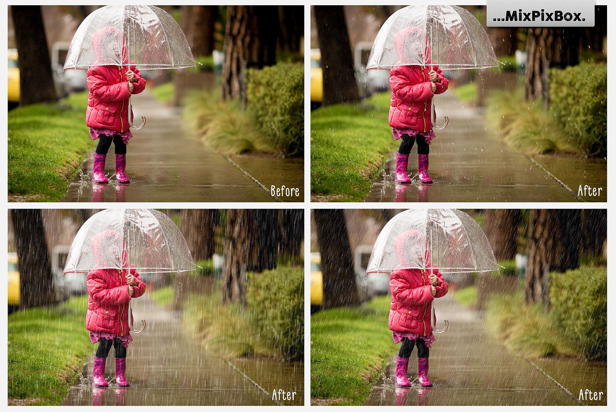 Realistic Rain Photo Overlays example image 2