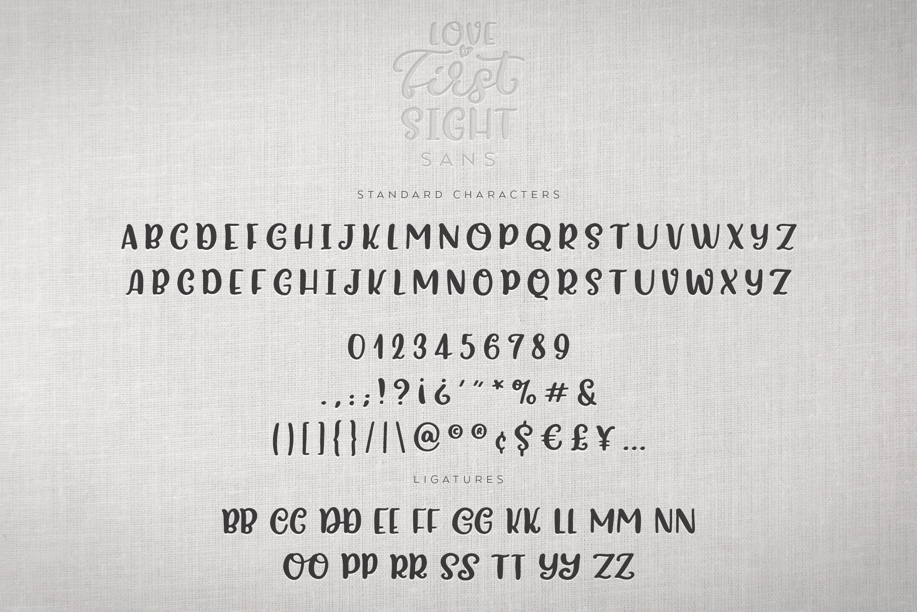 Love At First Sight Font Duo & Extras example image 15