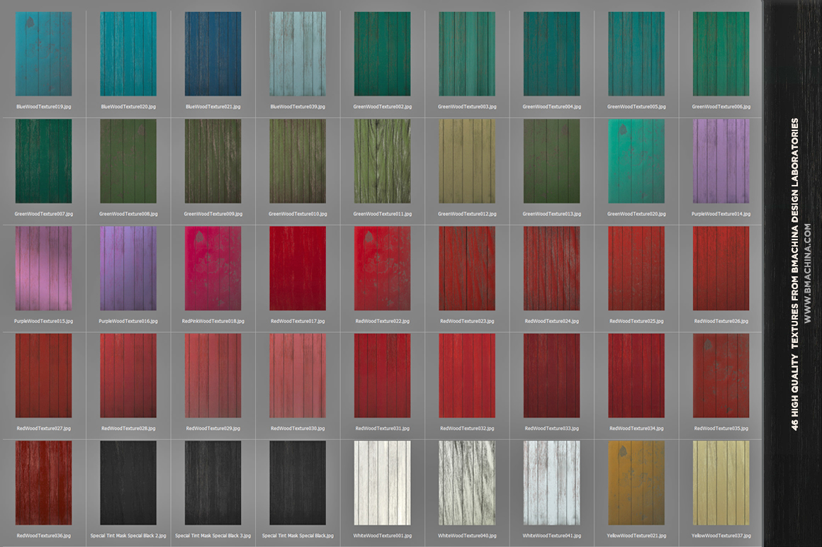 Painted Wood Textures example image 5