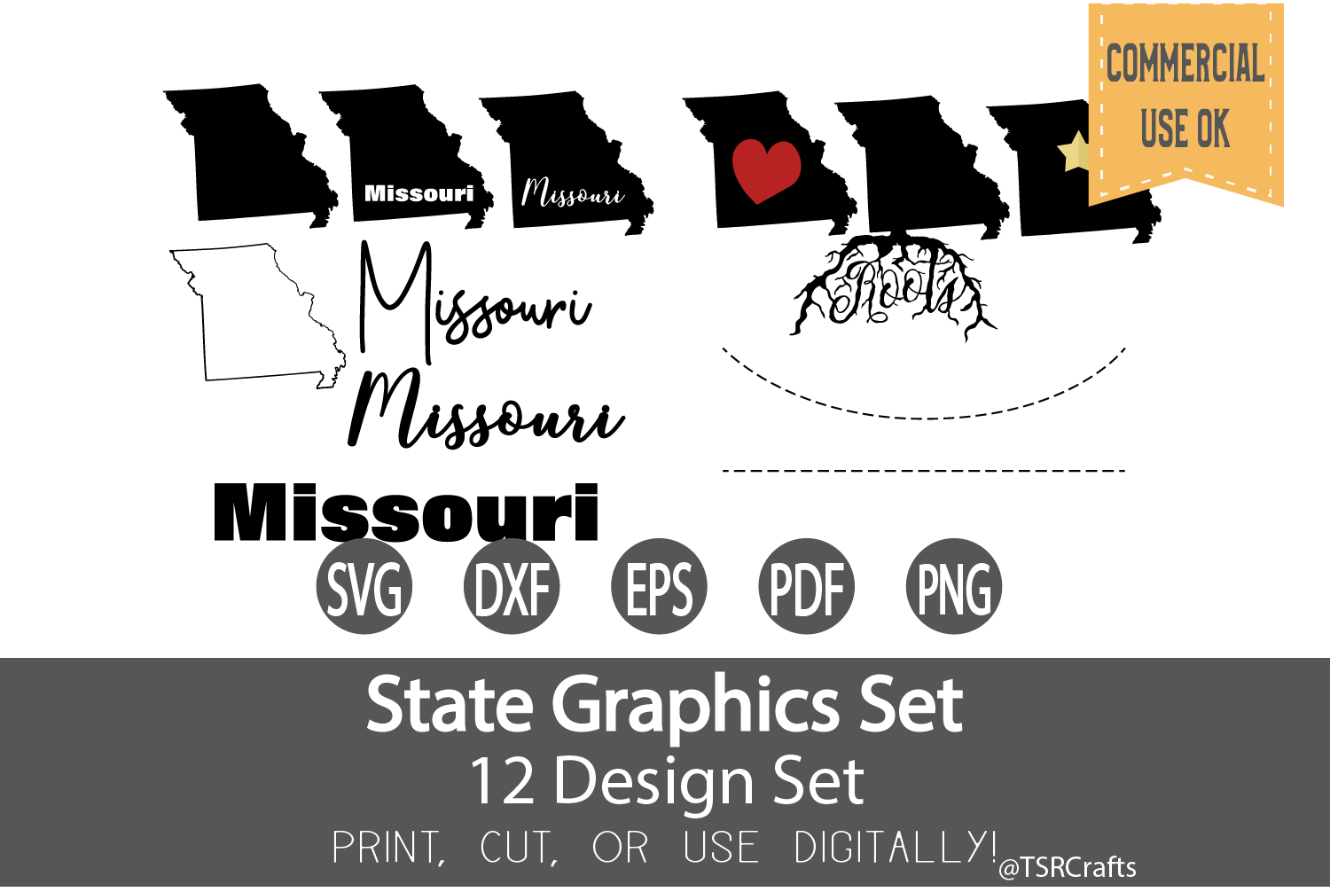Missouri State Graphics Set - Clip Art and Digital Cut example image 1