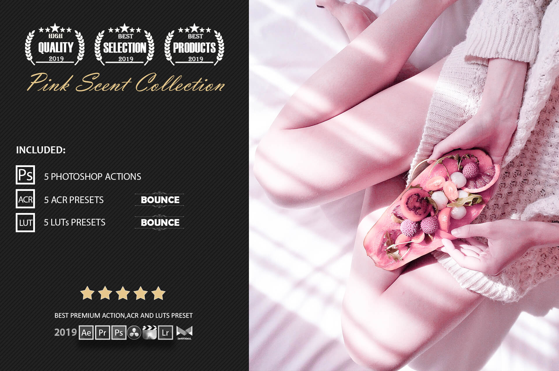 Neo Pink Scent Color Grading photoshop actions example image 2