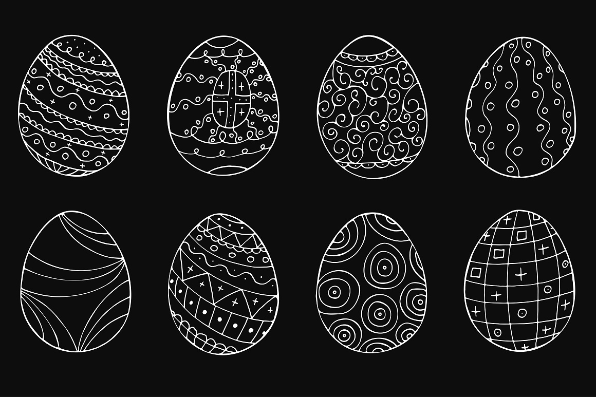 Easter eggs collection + patterns. example image 3