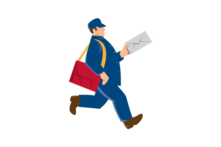 mailman postal worker delivery man example image 1