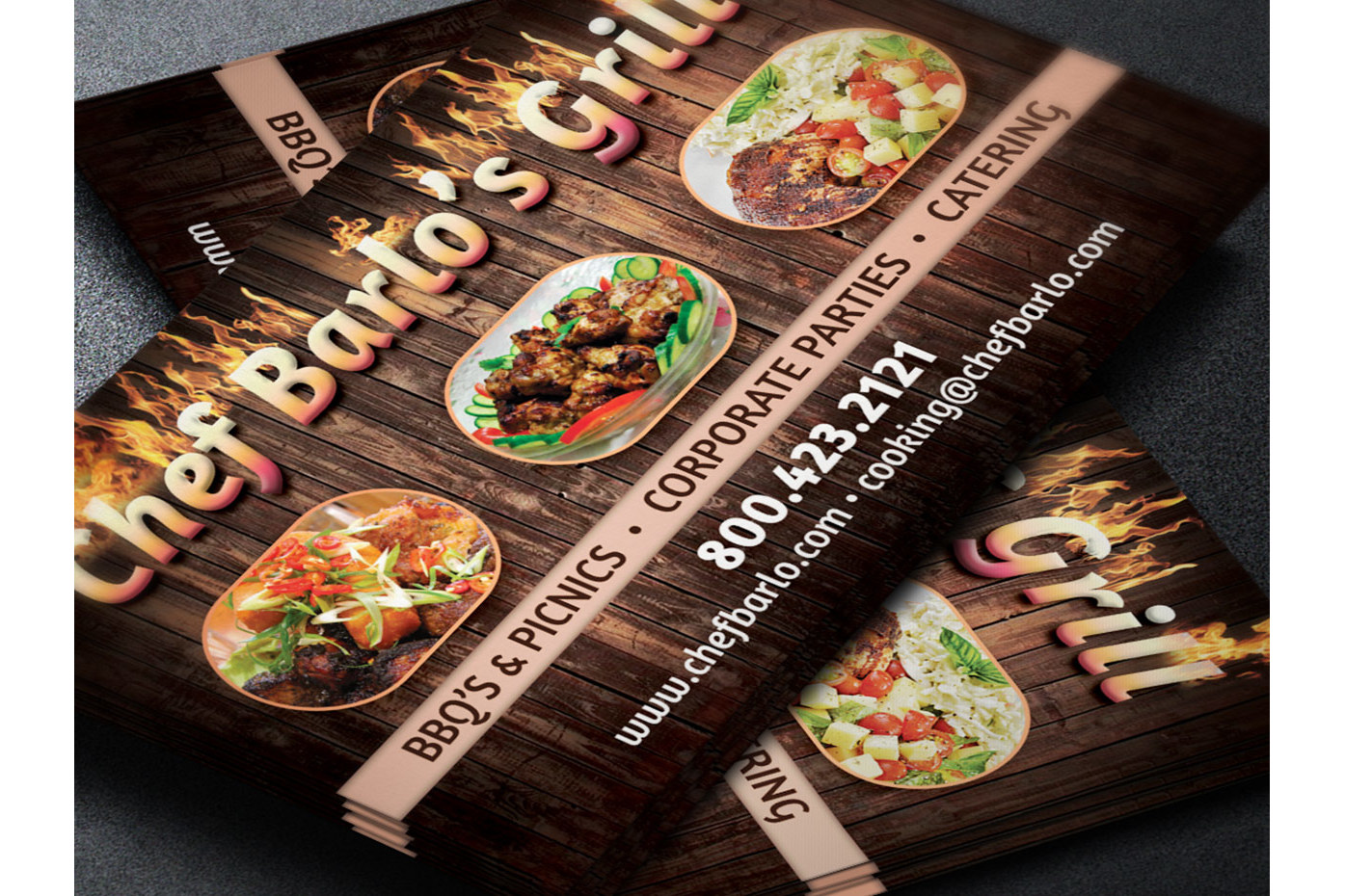 Chef Business Card Template example image 3