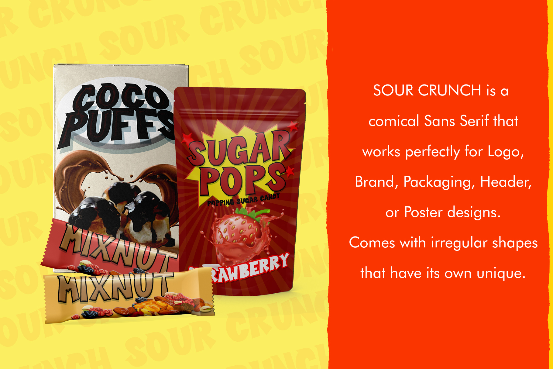 Sour Crunch - Comical Font example image 2