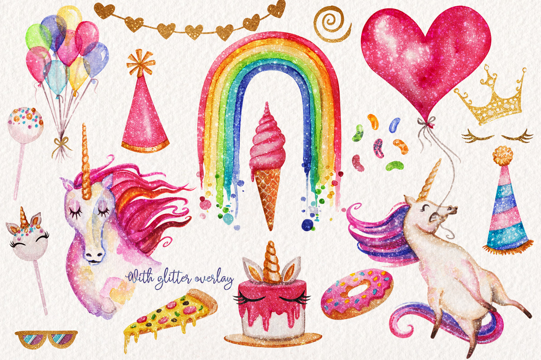 Watercolor Unicorn Birthday Party example image 3