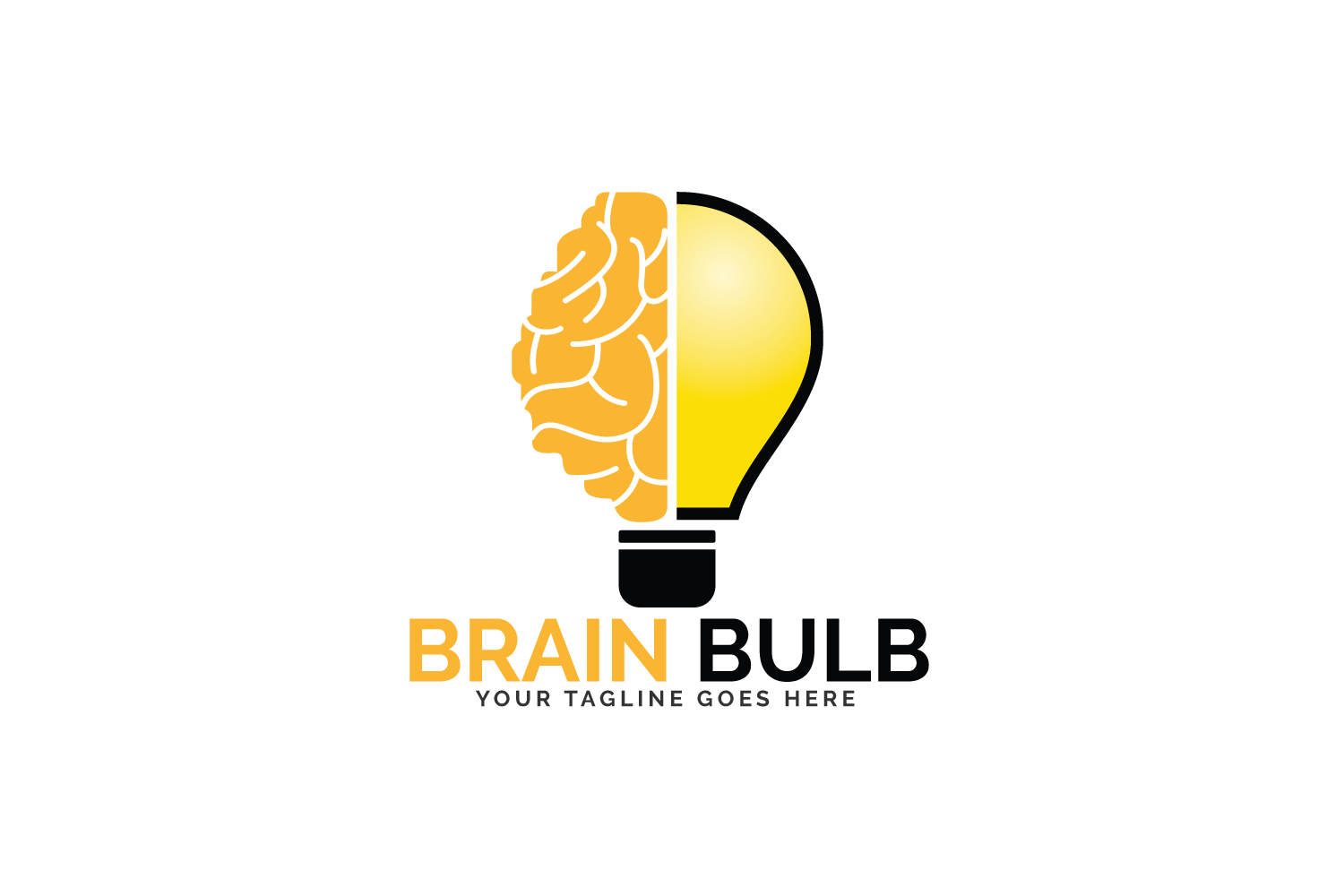 Brain Bulb Logo Design. example image 2