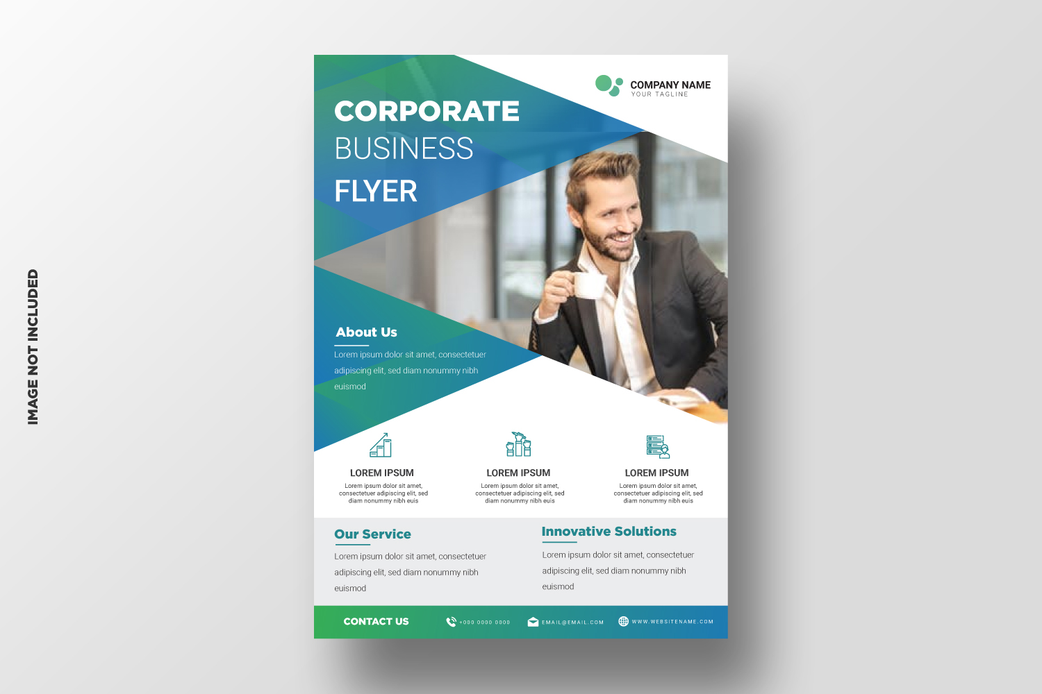 Business Flyer Template. Vol-08 example image 1
