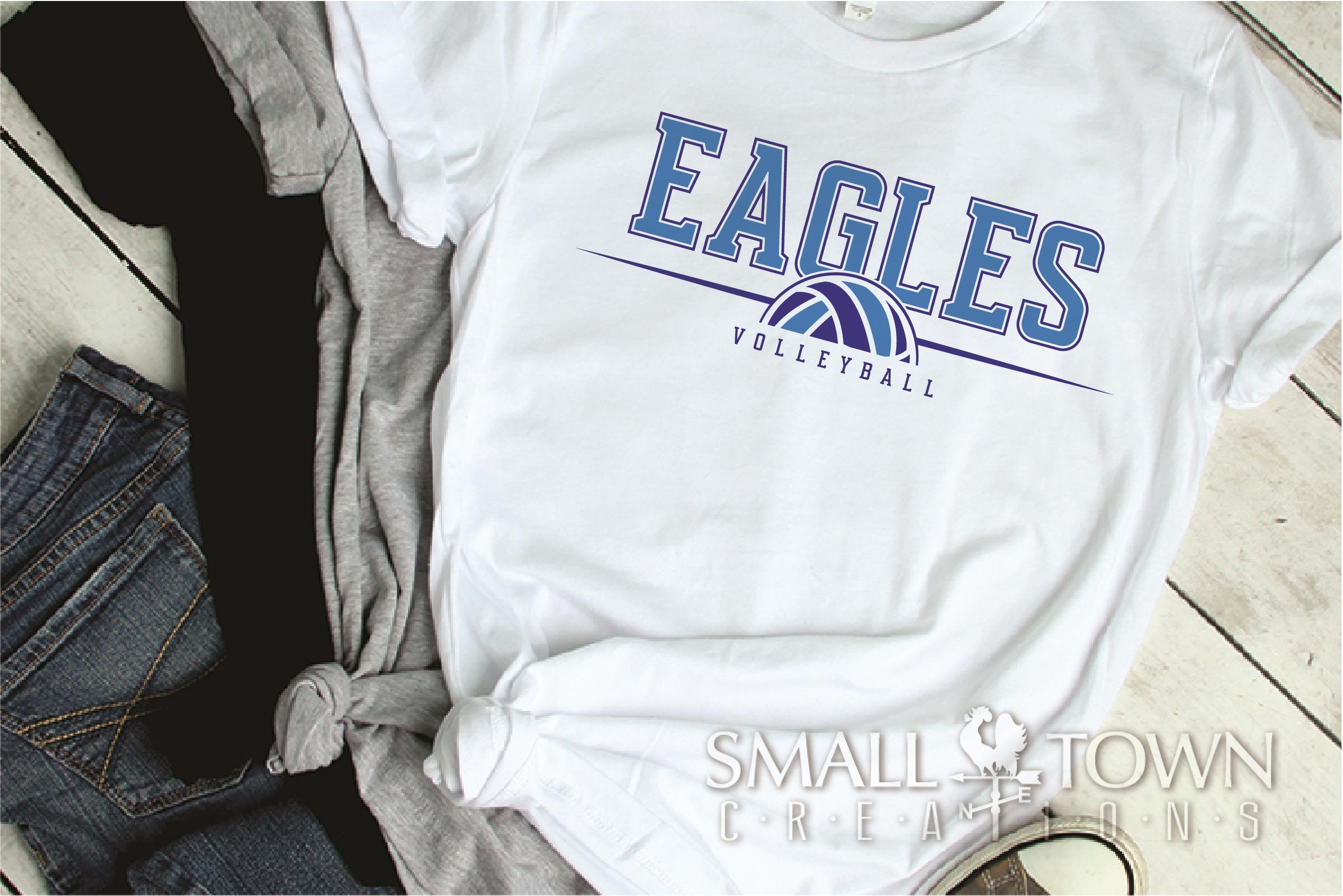 Eagle, Eagle volleyball, Team, logo, PRINT, CUT & DESIGN example image 2
