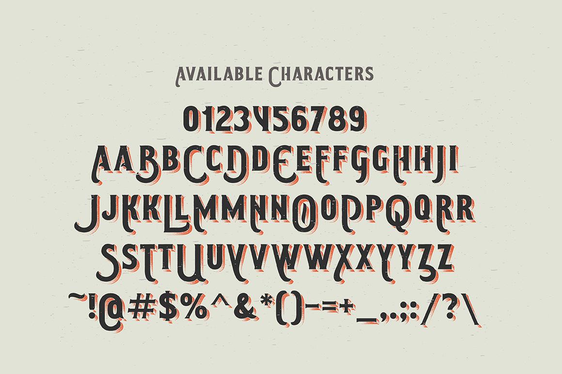 Smoking typeface + Illustration example image 3
