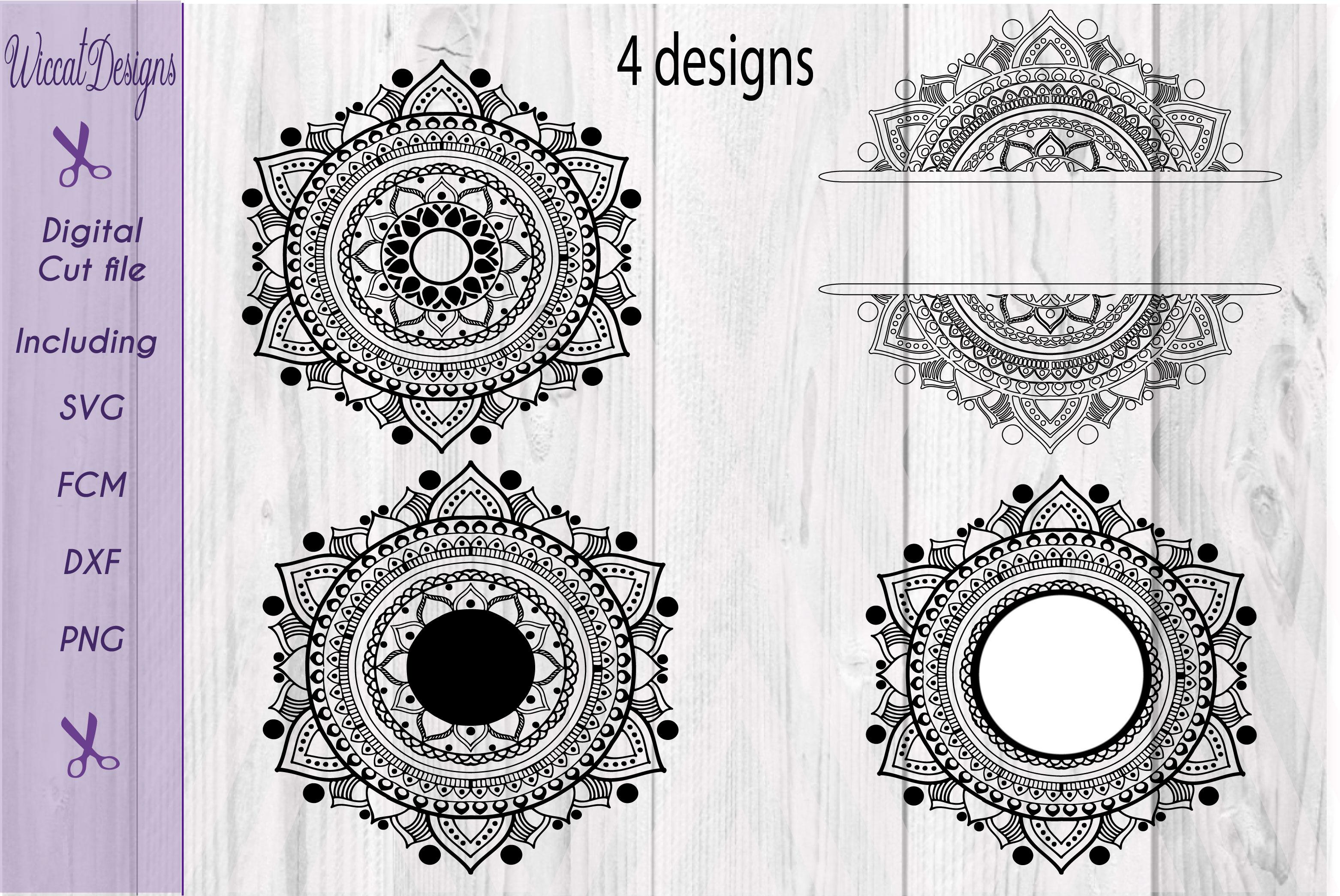 Mandala, zentangle svg, doodle svg, Monogram svg, example image 2