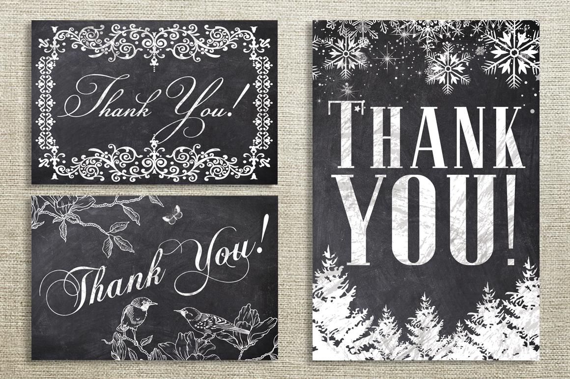 Chalk Thank You Cards Bundle example image 3