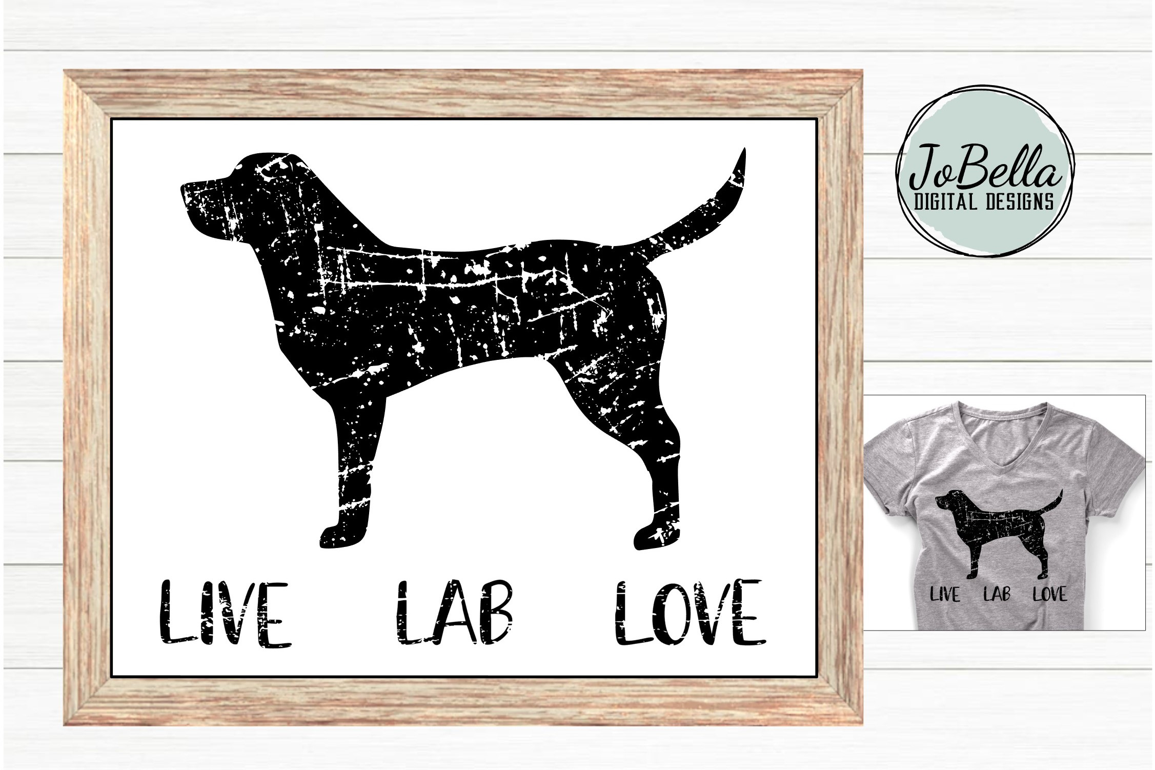 Distressed Labrador SVG and Printable Dog Lover Design example image 2