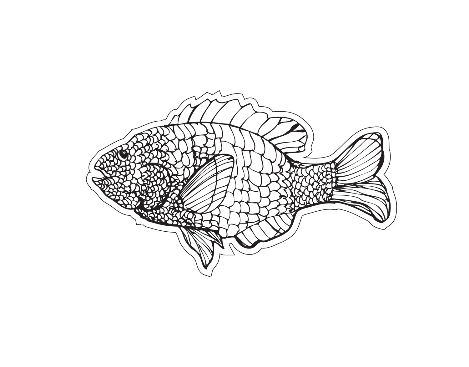 Sunfish cut file, with this file you can print color and cut example image 2